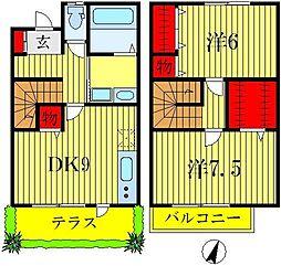 [テラスハウス] 東京都葛飾区南水元4丁目 の賃貸【/】の間取り