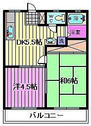 メゾンドール新井[A-203号室]の間取り