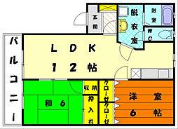 エリデスDOI[2階]の間取り
