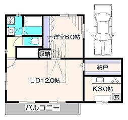 [一戸建] 東京都西東京市田無町2丁目 の賃貸【/】の間取り