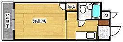 大阪府大阪市西成区南津守7丁目の賃貸マンションの間取り