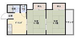 山本コーポ[2階]の間取り