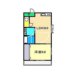 富士美ハイツ[3階]の間取り