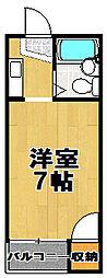コーポ白樺[4階]の間取り