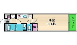 リブリ・メゾン・ド・ユアーズ 3階1Kの間取り