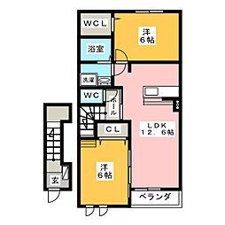 irideII[2階]の間取り