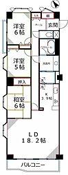 ライオンズマンション国分寺第5[3階]の間取り