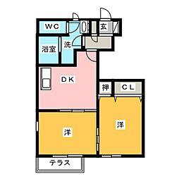 クレディメゾン[1階]の間取り