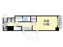 Osaka Metro御堂筋線 淀屋橋駅 徒歩7分の賃貸マンション 7階1DKの間取り