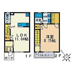 [テラスハウス] 神奈川県秦野市南矢名 の賃貸【/】の間取り
