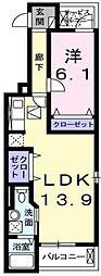 ルナ・ソーレ[3階]の間取り