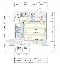 名古屋市営桜通線 丸の内駅 徒歩2分の賃貸マンション 5階1Kの間取り