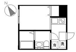 アトレ北新宿 1階1Kの間取り
