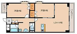 兵庫県神戸市須磨区中島町2丁目の賃貸マンションの間取り