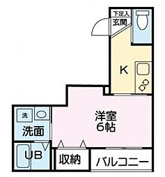 東京都板橋区志村3丁目の賃貸マンションの間取り