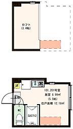 (仮称)赤羽デザイナーズ賃貸コーポ[102号室]の間取り