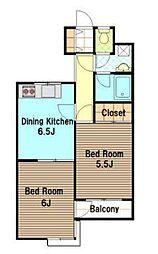 Fujisawa SAKURA Residence[2階]の間取り