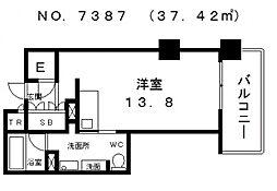 ロイヤルパークス桃坂[8階]の間取り