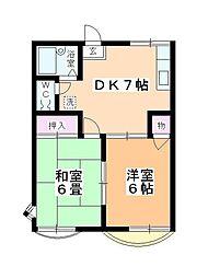 トラッドハウスM[203号室]の間取り