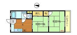 東京都三鷹市井の頭3丁目の賃貸マンションの間取り