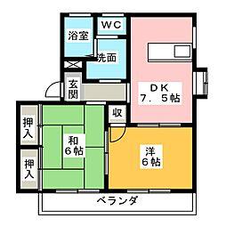 アベニュー平野II A棟 B棟[1階]の間取り
