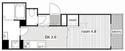 トルナーレ 3階1DKの間取り