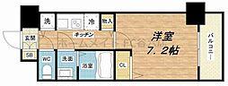 エステムコート南堀江IIIチュラ[2階]の間取り