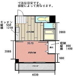 コンダクト小倉NO.1[205号室]の間取り