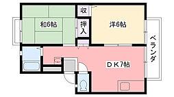 城山ハイツ[A102号室]の間取り