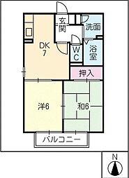 ガーデンハイツC棟[1階]の間取り