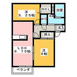 ガーデンハウス清和B棟[1階]の間取り