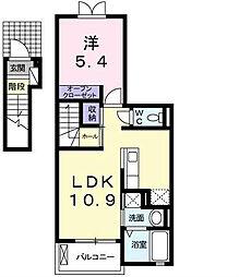 フローラMIKI[203号室]の間取り