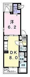 ベルク 2階1DKの間取り