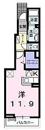 高松琴平電気鉄道長尾線 木太東口駅 徒歩12分の賃貸アパート 1階1Kの間取り