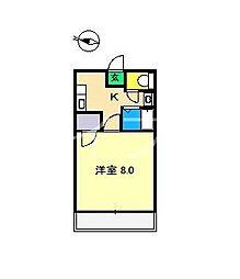 コーポF[3階]の間取り