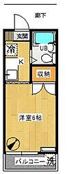 サンアベニュー岩田[105号室号室]の間取り