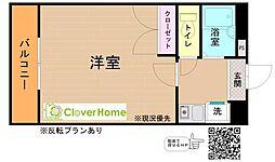 神奈川県厚木市林5丁目の賃貸マンションの間取り
