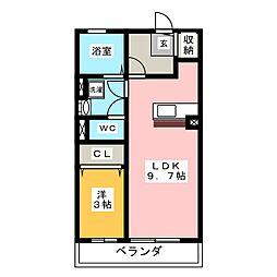 ロイヤルシティー[2階]の間取り