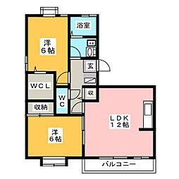プレミアムシャトー[3階]の間取り