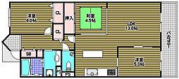 ルナコート富田林[6階]の間取り