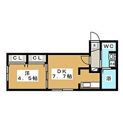 Jentile43[2階]の間取り