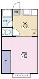 ガーデンハウスA棟 bt[205kk号室]の間取り
