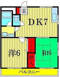 パールマンション[2階]の間取り