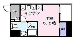 東京メトロ銀座線 日本橋駅 徒歩5分の賃貸マンション 3階ワンルームの間取り