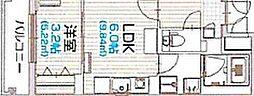 Brave亀島本陣 4階1LDKの間取り