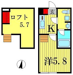 Prima柴又[1階]の間取り