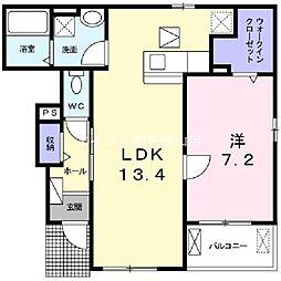 シェネル[1階]の間取り