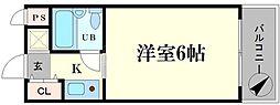 ビバリーヒルズ本田西[7階]の間取り