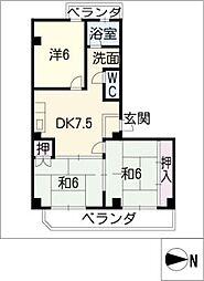 第二グリーンハイツ[3階]の間取り