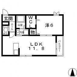 メゾンkoma[105号室号室]の間取り